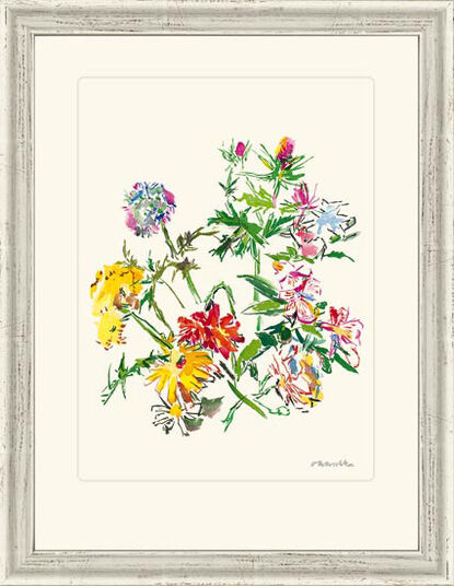 "Oskar Kokoschka: Picture ""Summer Flowers with Thorns"" (1969)"