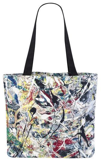 """Jackson Pollock: Tragetasche """"White Light"""""""