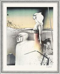 """Bild """"Paar mit Hund"""" - aus Grafikfolge """"Lithografien II"""", gerahmt"""