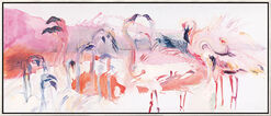 "Bild ""Flamingos"", gerahmt"