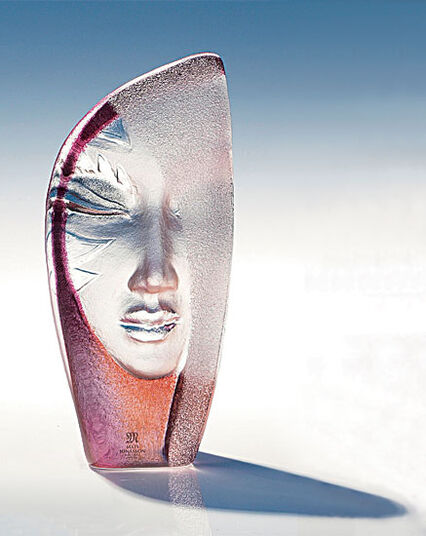 "Mats Jonasson: Glass Object ""Masquerade"""