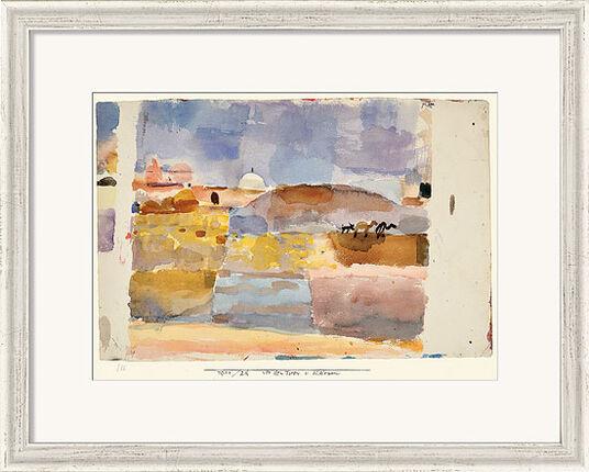 """Paul Klee: Bild """"Vor den Toren von Kairuan"""" (1914), gerahmt"""