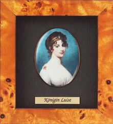 """Miniatur-Porzellanbild """"Königin Luise von Preußen"""" (1776-1810), gerahmt"""