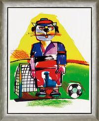 """Bild """"Der Fußballer"""", gerahmt"""