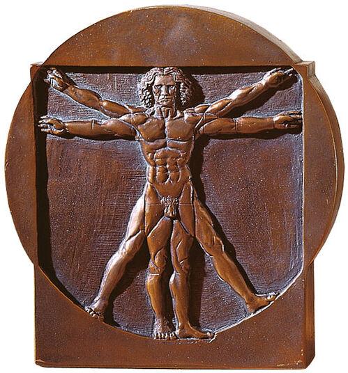 """Leonardo da Vinci: """"Schema delle Proporzioni"""", Standing Relief """"Man"""""""