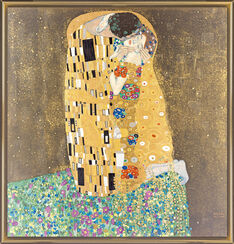 "Painting ""The Kiss"" (1907-08)"