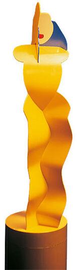 """Allen Jones: Stahlskulptur """"Yellow Figure"""""""