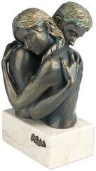 """Skulptur """"Idyll"""", Kunstguss Steinoptik"""