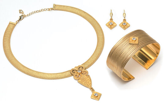 "Petra Waszak: Jewellery Set ""Gold Flower"""