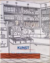 """Objekt """"Kunst ist ein Lebensmittel"""" (2017) (Unikat)"""
