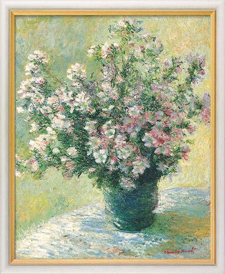 """Claude Monet: Bild """"Vase à fleurs - Malvenstrauß"""" (1881/82), gerahmt"""