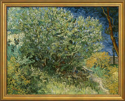 "Painting ""Lilac bush"" (1889) in museum framing"