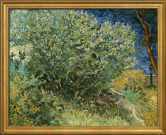 "Vincent van Gogh: Painting ""Lilac bush"" (1889) in museum framing"