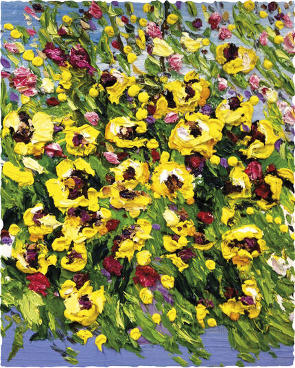 "Ben Kamili: Bild ""Blumenstrauß gelb"" (2016) (Unikat)"
