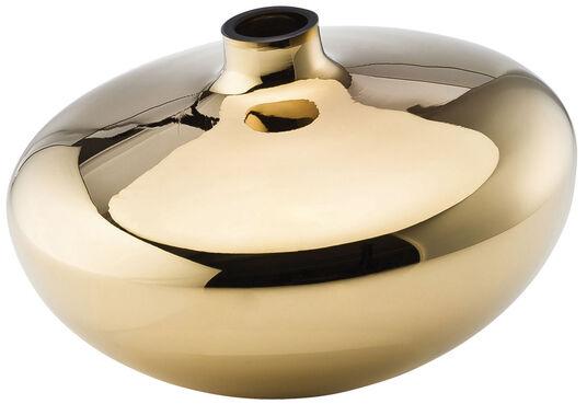 """Silke Decker: Glasvase """"Swinging Vases Clear-Gold"""""""