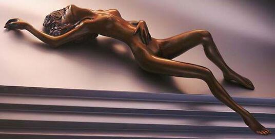 """Bruno Bruni: Sculpture """"L' Attesa"""" (1999), bronze"""