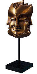 """Tête de Bouddha"", bronze"
