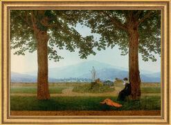 "Picture ""Garden Terrace"" in gallery frame"