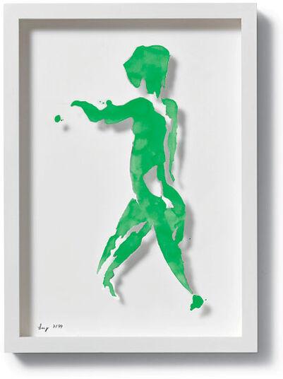 """Stefan Lang: Bild """"Einblick (grün)"""", 2010"""