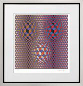 """Bild """"Konjunktion"""" (1987), gerahmt"""