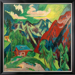 "Bild ""Die Klosterser Berge"" (1923), gerahmt"