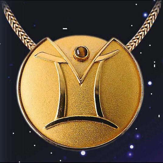 """Zodiac Necklace """"Gemini"""" (21.05-21.06) With Lucky Stone Tiger Eye"""