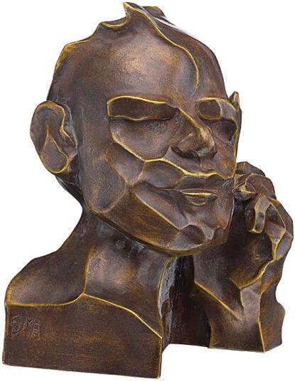 "Margot Stöckl: Sculpture ""The Thinker"", version in artificial marble"