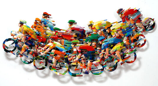 "David Gerstein: 3D-Wandskulptur ""Peleton Wave - big A"" (2008), Aluminium"