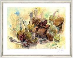 """Bild """"Stillleben mit Pilzen"""", gerahmt"""