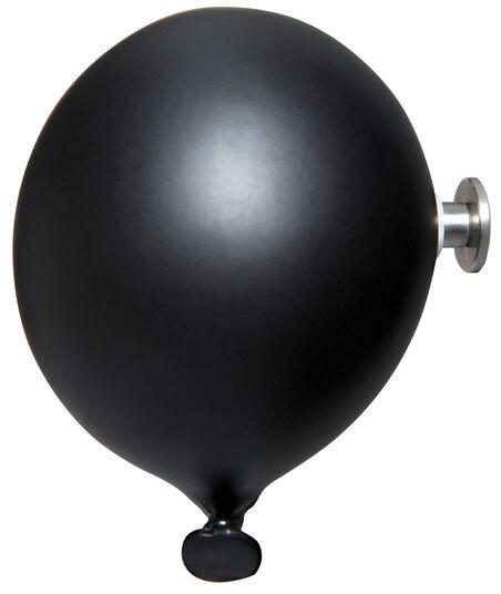 "Kleiderhaken / Wandobjekt ""Mini Balloon schwarz"", Keramik"
