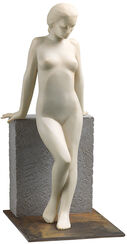 "Sculpture ""Girl on the Wall"", Artificial Marble"