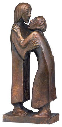 """Ernst Barlach: Skulptur """"Das Wiedersehen"""" (1930), Reduktion in Bronze"""