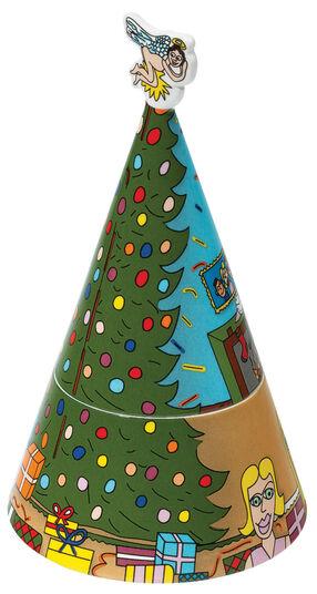 """James Rizzi: Porzellandose mit Spieluhr """"Home for Christmas"""""""