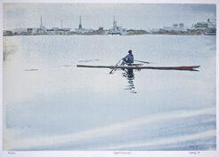 """Bild """"Silent Running"""" (Ruderer auf der Alster) (1979)"""
