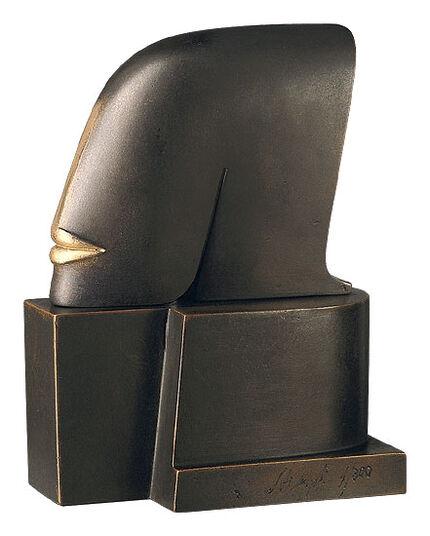 "Günther Stimpfl: Sculpture ""Letter"", bronze edition"