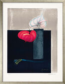 "Picture ""Vase with two Anthurium Flowers"" (1999)"