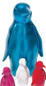 Pinguin hellblau-metallic, große Version