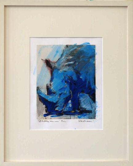 """Ralf Koenemann: Bild """"Nashorn 1"""" (2014) (Unikat)"""