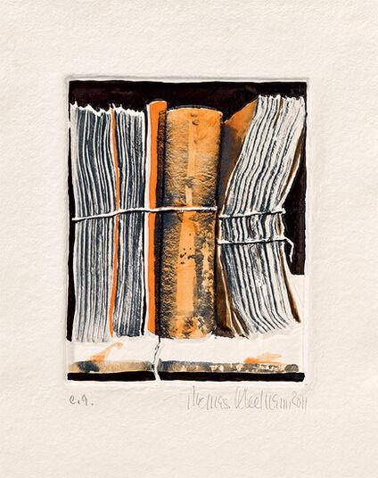 """Thomas Kleemann: Bild """"Archiv orange"""" (2011), ungerahmt"""