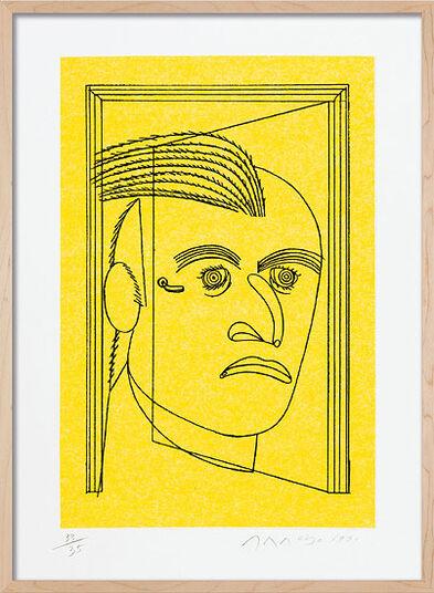 """Eduardo Arroyo: Bild """"Homme coq"""", gerahmt"""