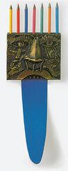 """Bronzeskulptur """"Zunge für Einstein"""" mit Künstlerbuch"""