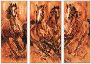 """Triptychon """"Aufbruch"""", gerahmt"""