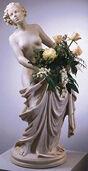"Statuette ""Flora Donata"" (mit Vaseneinsatz), Kunstmarmor"