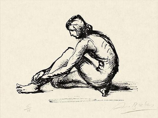 "Arno Breker: Bild ""Gebeugter Knabe"" (1974)"