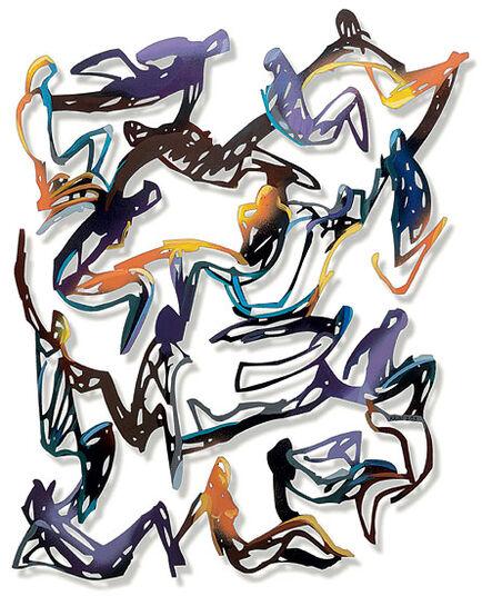 Krum Stanoev: Wall sculpture 'Relations' (2009)