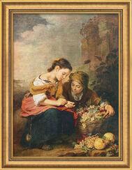 """Bild """"Die kleine Obsthändlerin"""" (1675), gerahmt"""