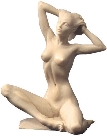 "Roman Johann Strobl: Sculpture ""Seated Nude"", artificial marble version"