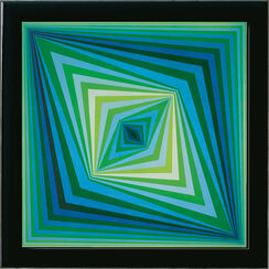 Painting 'Rhombus', framed