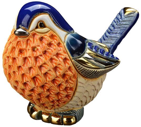 """Keramikfigur """"Rotkehlchen"""""""