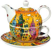 """Teekanne mit integrierter Tasse """"City Sunset"""", Porzellan"""